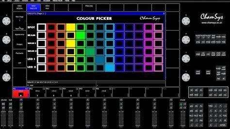layout view grandma2 chamsys magicq color picker tutorial youtube