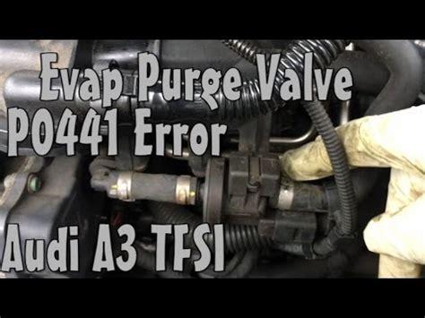 audi  evap fuel purge valve p error code replace