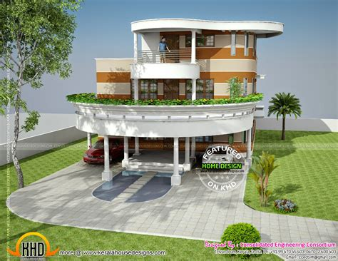distinctive house plans unique house plan in kerala kerala home design and floor plans