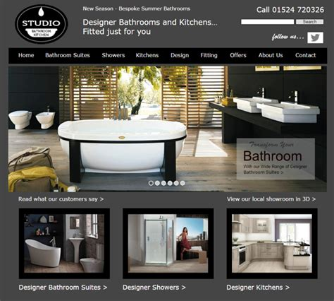 Kitchen Design Sites by Bathroom Amp Kitchen Studio Web Design Portfolio