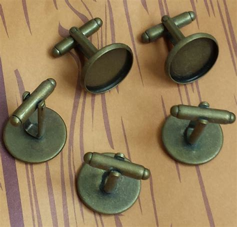 Sale Insert Cloth Cluebebe Combo sale combo 16mm 20 pc antique bronze platted bezel cufflink blank with glass tile