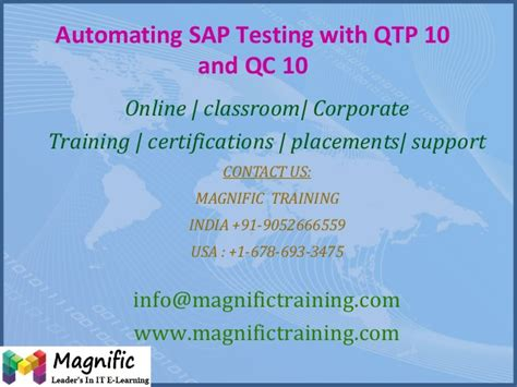 sap qtp tutorial automating sap testing with qtp 10 and qc 10