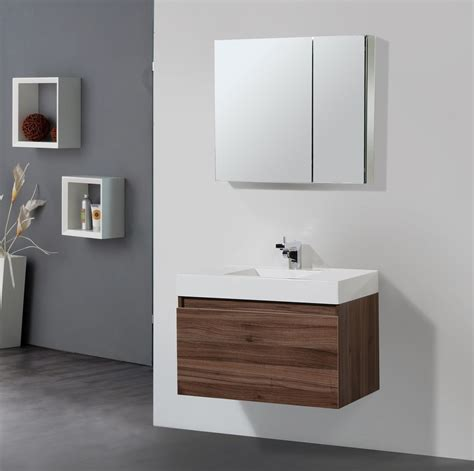 Solid Wood Vanities For Bathrooms Solid Wood Bathroom Vanities And Modern Floating Brown Wooden Vanity With Single White Sink Also