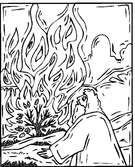 pillar of fire coloring page coloring pages