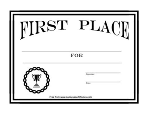 certificate for 1st place award 7 certificate templates