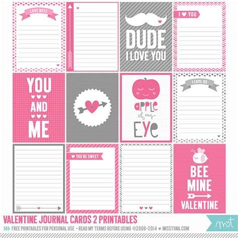 project journaling card template 50 free printable s day project cards