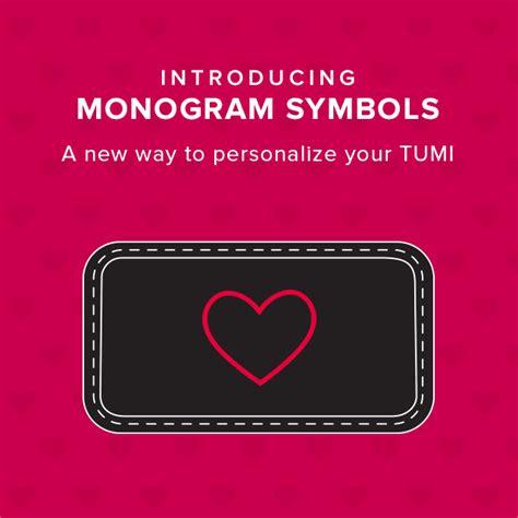 tumi  symbol monograms   milled