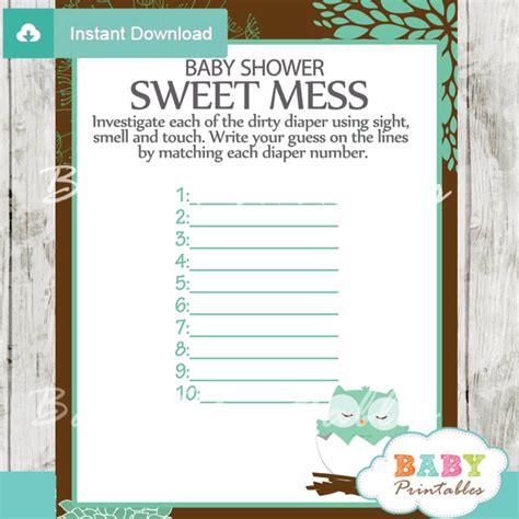 printable owl themed baby shower games tiffany blue owl baby shower games bundle d124 baby