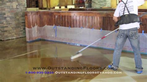 Decorative Concrete Epoxy Floors   YouTube