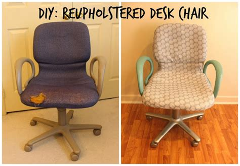 diy desk chair from woo to you diy reupholstered office chair