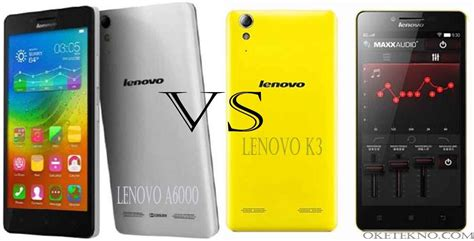 Lenovo A6000 Vs duel lenovo a6000 vs lenovo k3 dengan harga terjangkau oketekno