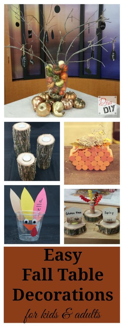 fall table decorations easy easy fall table decorations