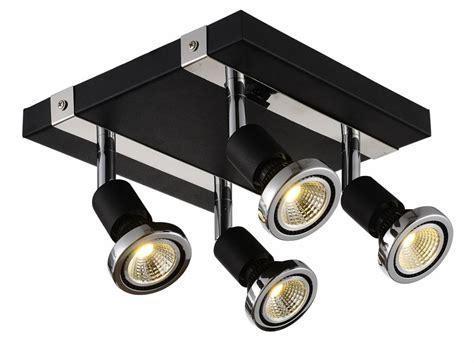 ceiling light led square white black chrome brushed steel