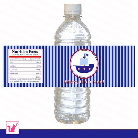 printable labels water bottles printable nautical water bottle labels wrappers birthday