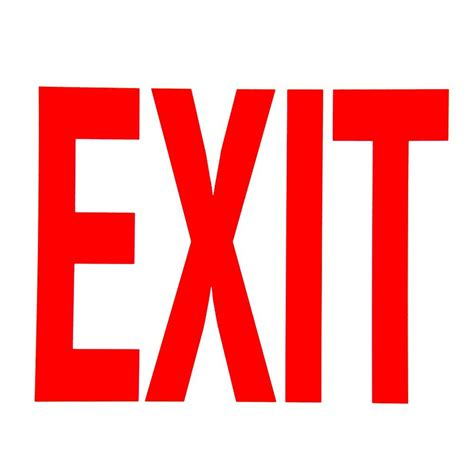 Exit Sign buckeye glow in the exit sign adhesive label