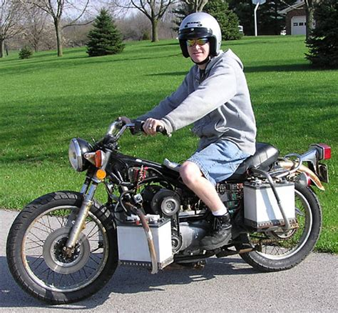 forkencycle dirt cheap diy electric motorcycle made from