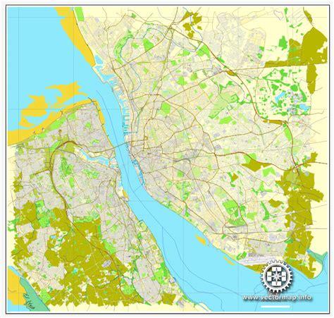 printable street map liverpool liverpool birkenhead england printable vector street