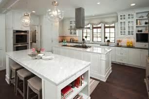 Double Kitchen Islands Transitional Kitchen Studio M Interiors