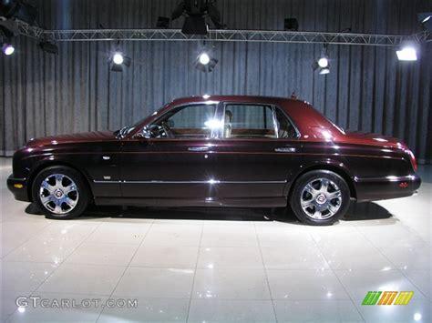 2005 burgundy black velvet bentley arnage r mulliner