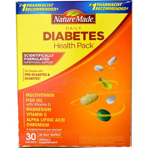 supplement 10 sfc nature made daily diabetes health pack 30 packets 6