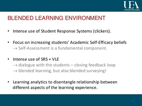 Self Efficacy In Based Learning Environments A Literature Review by Assessing Student Self Assessment An Additional Argument For Blended