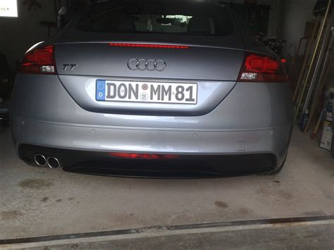Audi Tt 8j Auspuffblende by Audi Tt 2 00 S Line Diffusor Auspuffblende Biete Audi