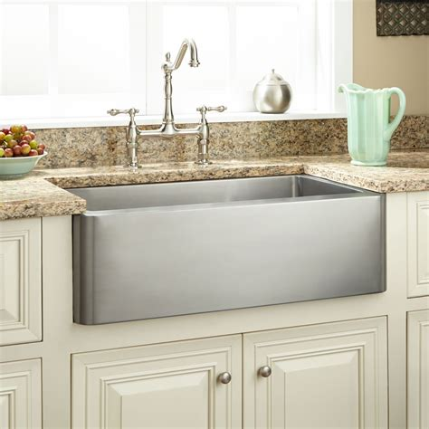 Stainless Steel Farmhouse Kitchen Sinks 27 Quot Hazelton Stainless Steel Farmhouse Sink Kitchen