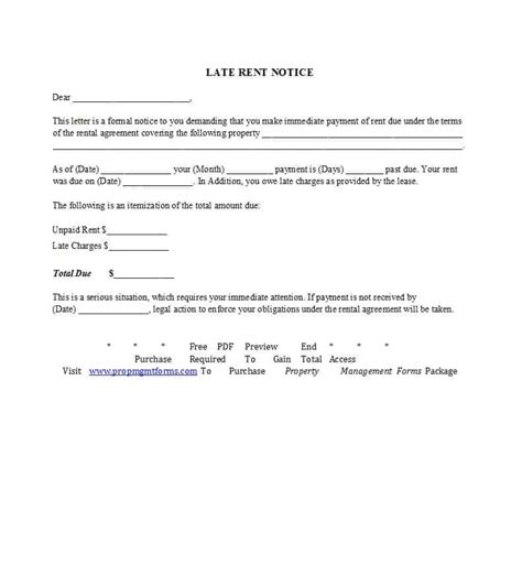 34 Printable Late Rent Notice Templates ᐅ Template Lab Late Rent Payment Agreement Template