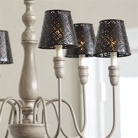 Ballard Designs Review punched metal chandelier shade traditional lamp shades