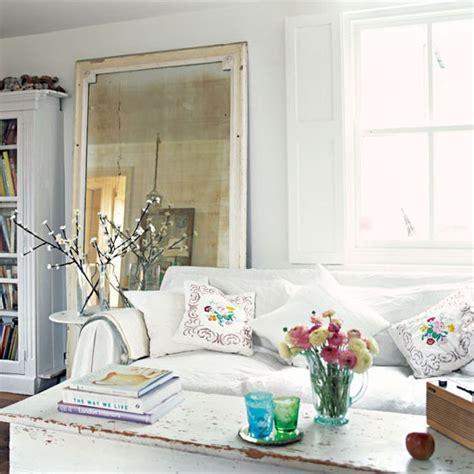 oversized mirrors living room white shabby chic living room with oversized mirror summer design ideas home trends