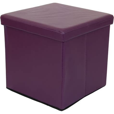 Cube Storage Bench Stilista Foldable Stool Seat Cube Storage Box Stool Bench Purple Ebay