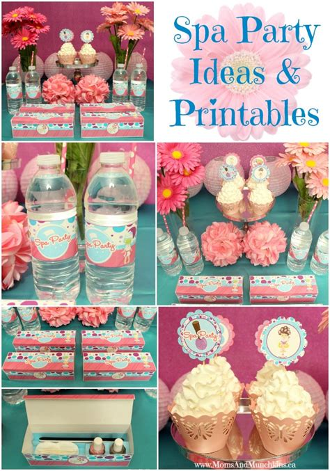 hot party themes 2015 spa party ideas printables moms munchkins