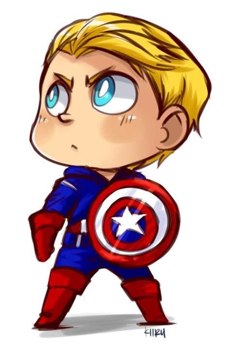 Figure Captain America Ironman Chibi kawaii captain america chibis characters h 233 ros deco murale et h 233 ros