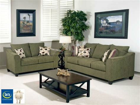 serta 1225 flyer green living room set
