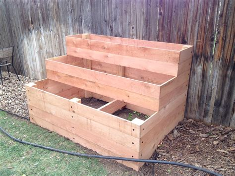 cedar raised garden beds ana white cedar raised garden beds 3 tiers diy projects