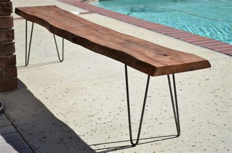 live edge wood bench live edge bench woodwaves