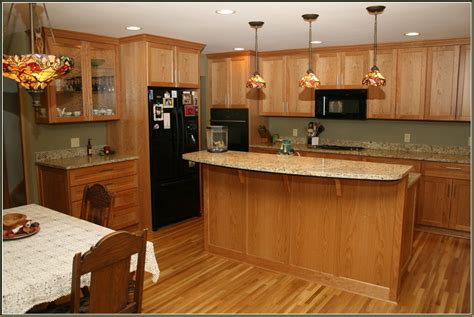 Honey Oak Cabinets What Color Granite by Honey Oak Cabinets What Color Granite Home Design Ideas