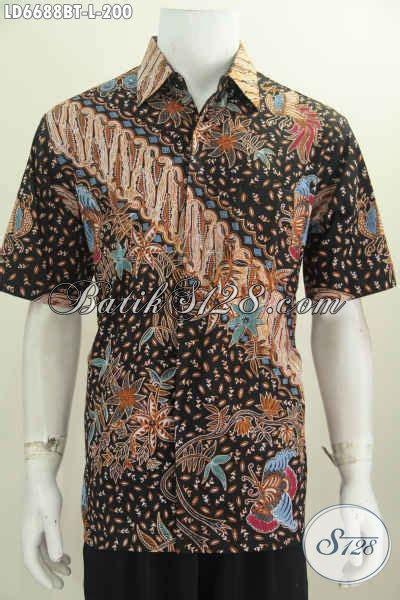 Baju Pakaian Pria Busana Kemeja Pendek Motif Batik Murah 3 pakaian batik lengan pendek motif keren abis busana batik