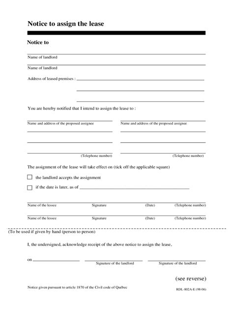 transfer lease form templates word