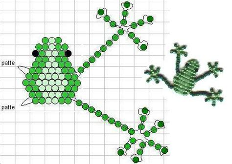 beaded animals free patterns seed bead frog pattern pony bead patterns