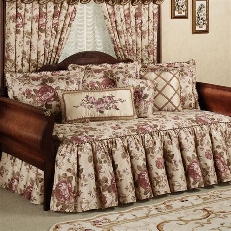 day bed comforters white polished iron day bed with white flower pattern