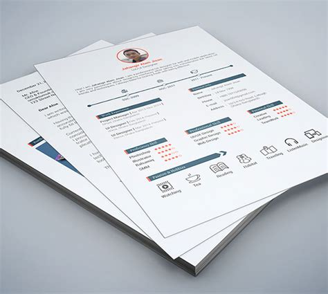 psd resume template 50 beautiful free resume cv templates in ai indesign psd formats