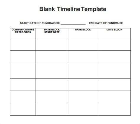 chronology template free timeline template template business