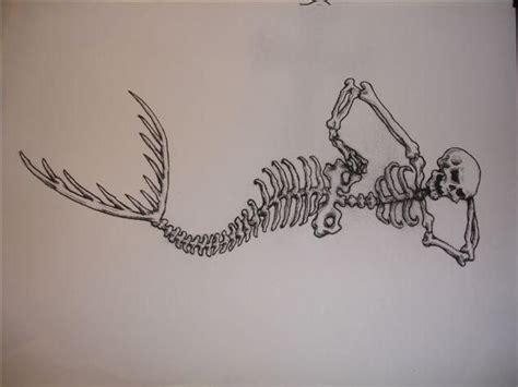 mermaid skeleton tattoo mermaid skeleton design by chicanochop deviantart on