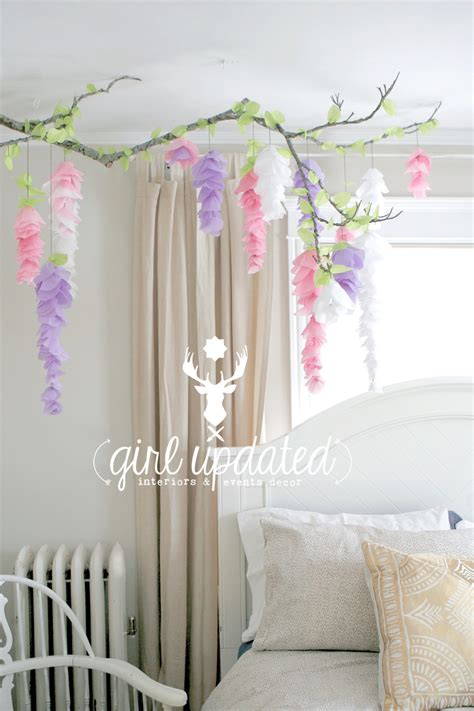 paper decorations for bedrooms wisteria tissue paper flower garland branch decor for