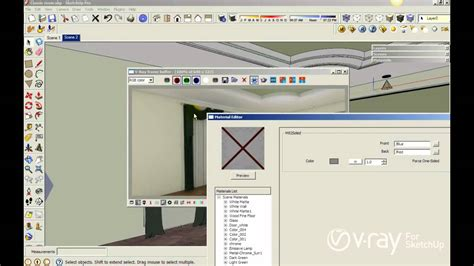 tutorial vray sketchup kaskus v ray for sketchup using v ray two sided material to