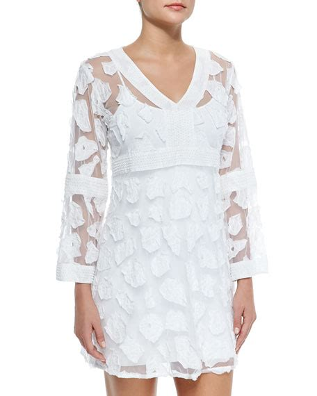 Sleeve Mesh Cover Up letarte sleeve mesh applique coverup