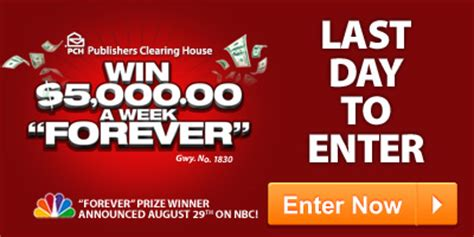 Pch Win Forever - deadline for forever prize last day to enter to win forever pch blog