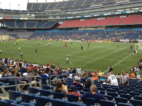 gillette stadium section  home   england