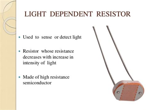 resistor are made of light dependent resistor made of 28 images light dependent resistor ldr its application 171